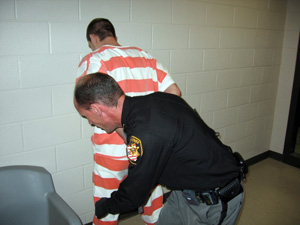 Deputy Orosz Accepting Inmate into New Jail
